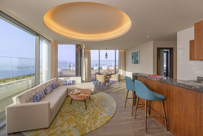 Penthouse Suite, Club Lounge And Beach Access, King Size Bed, Rooftop Terrace, Palm Sea View-slider-4